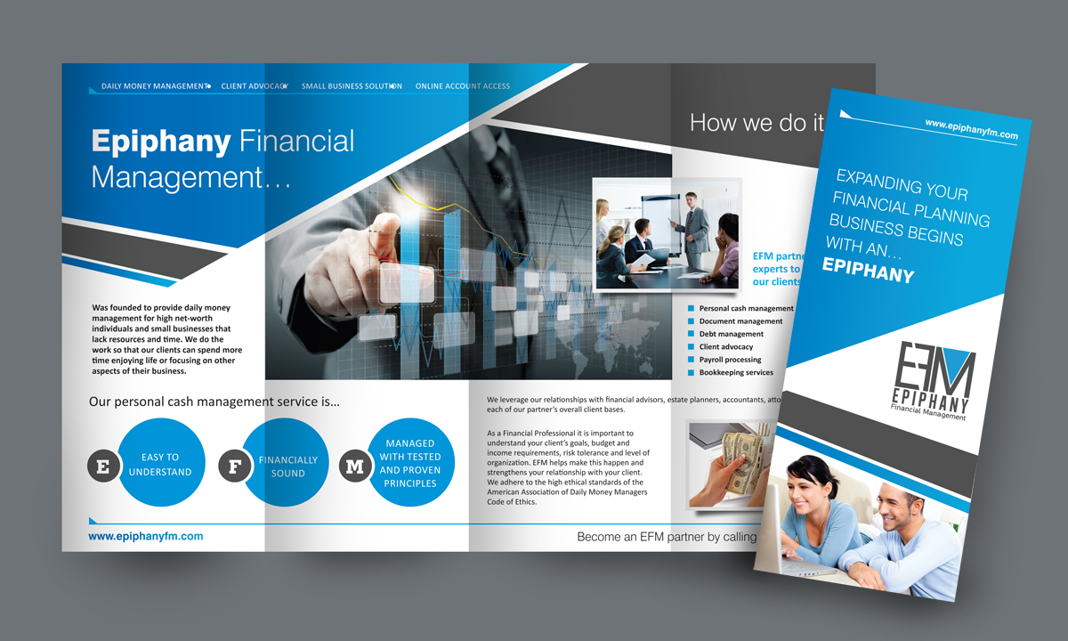 serious modern small business brochure design for a company by