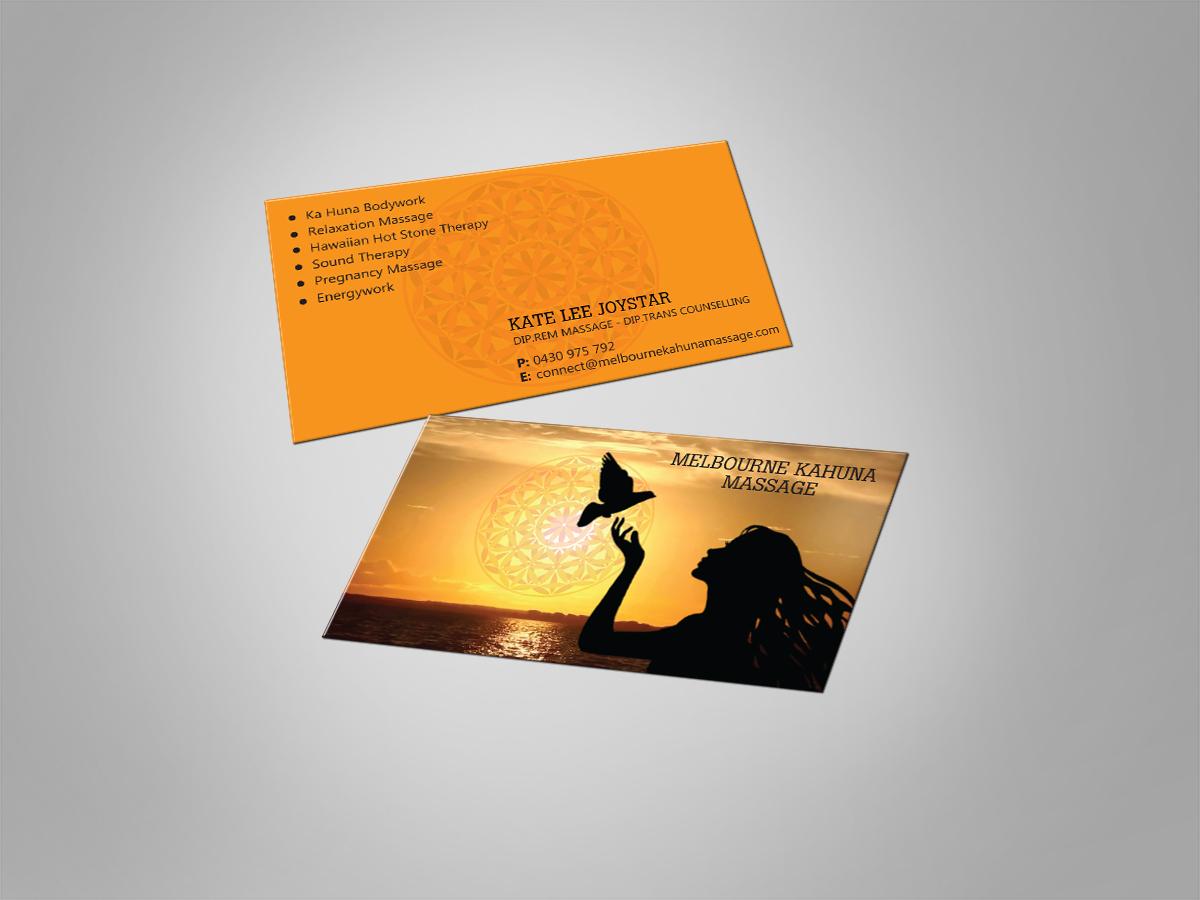 Feminine, Conservative Business Card Design for Melbourne Kahuna ...