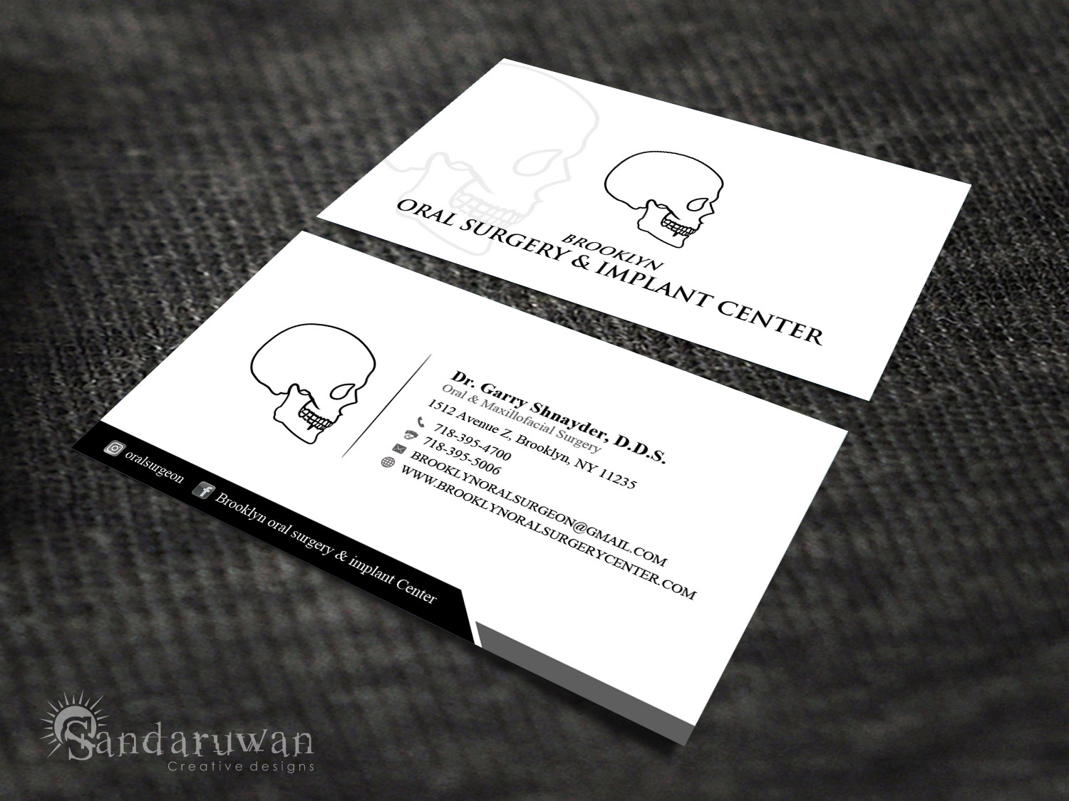 Modern masculine dental business card design for a company by business card design by sandaruwan for this project design 13804614 colourmoves