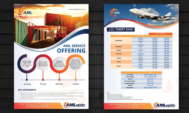 Flyer Design By ESolz Technologies For Internaitnal Logistics Company Needs Marketing  Flyer For Australia/Italy
