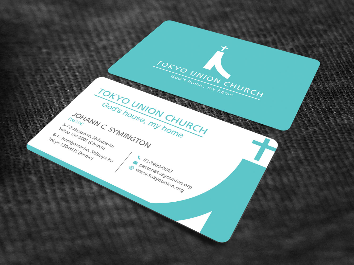 elegant modern business card design for self employed - Pastor Business Cards