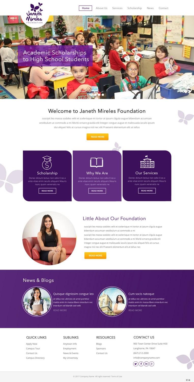 Feminine Elegant Education Web Design For A Company By Pb Design 13761570