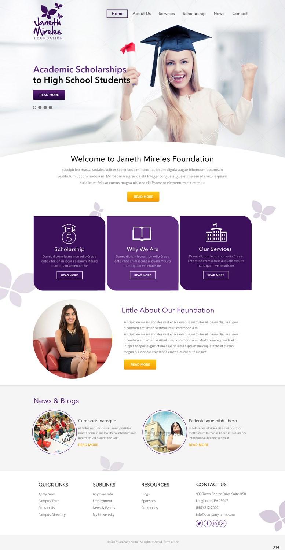 Feminine Elegant Education Web Design For A Company By Pb Design 13761571