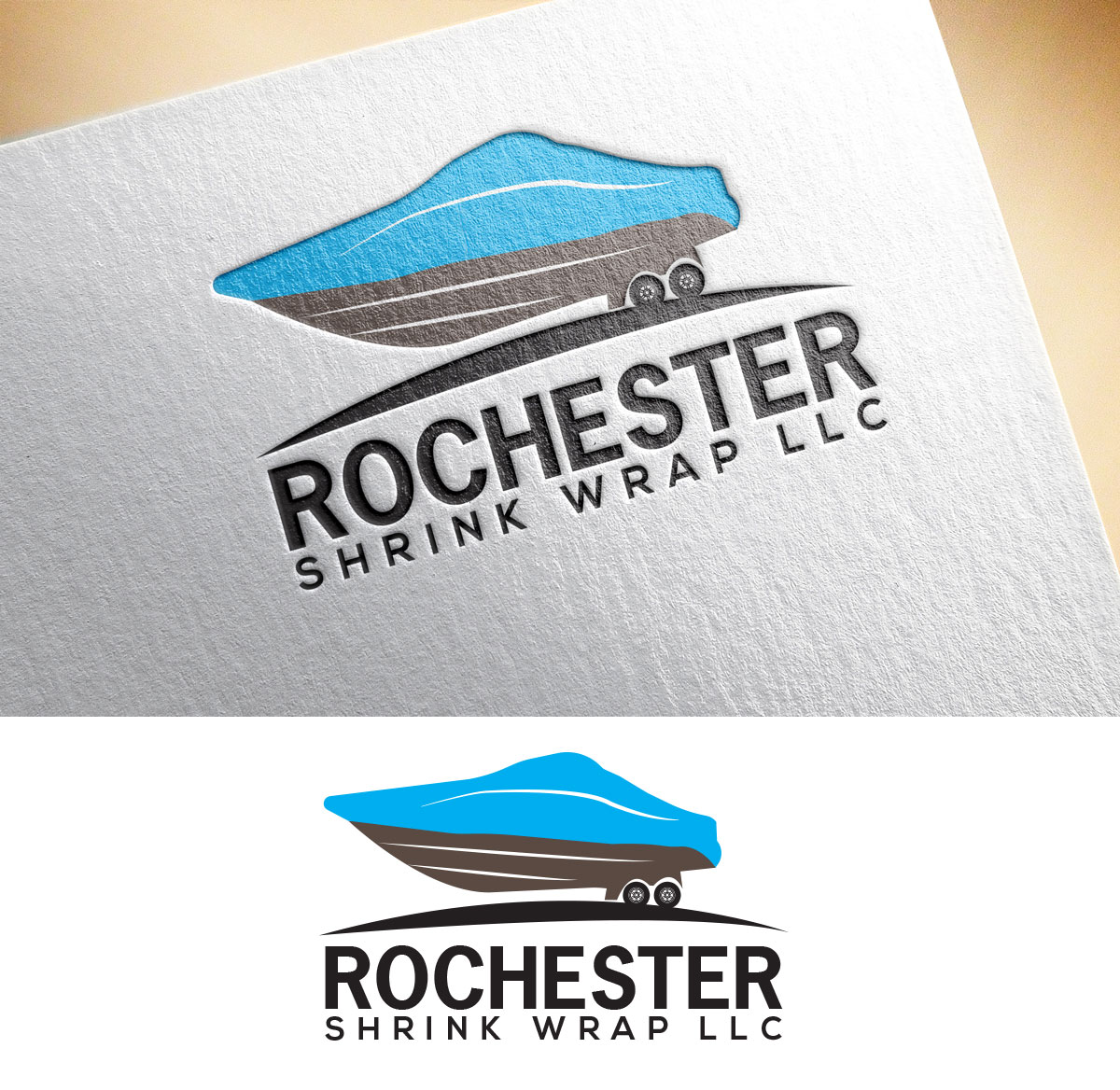 115 bold masculine marine logo designs for rochester shrink wrap logo design design 13737624 submitted to rochester shrink wrap logo for new company magicingreecefo Gallery