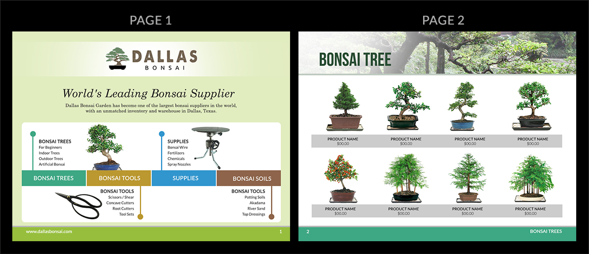 Charmant Print Design By MDesigns For Dallas Bonsai Garden | Design #13782142
