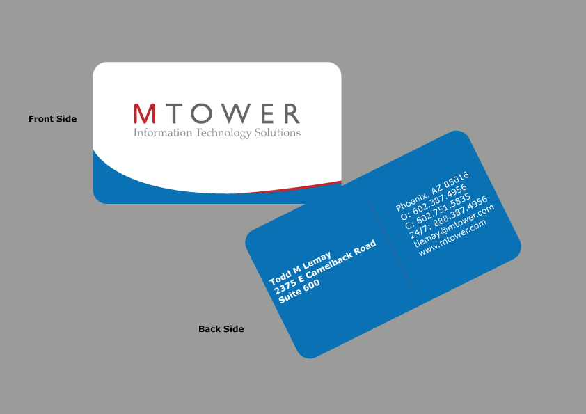 Colorful, Elegant, Computer Business Card Design for a Company by ...