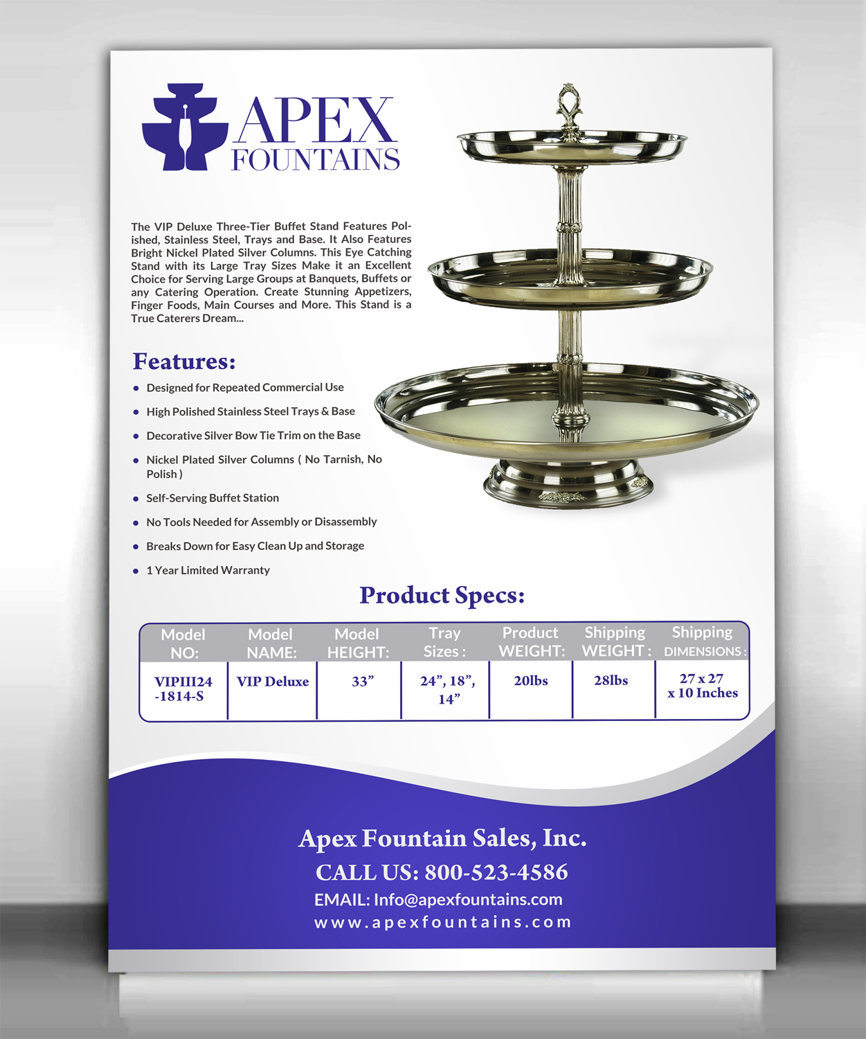elegant professional event flyer design for apex fountains in united states design 13760132