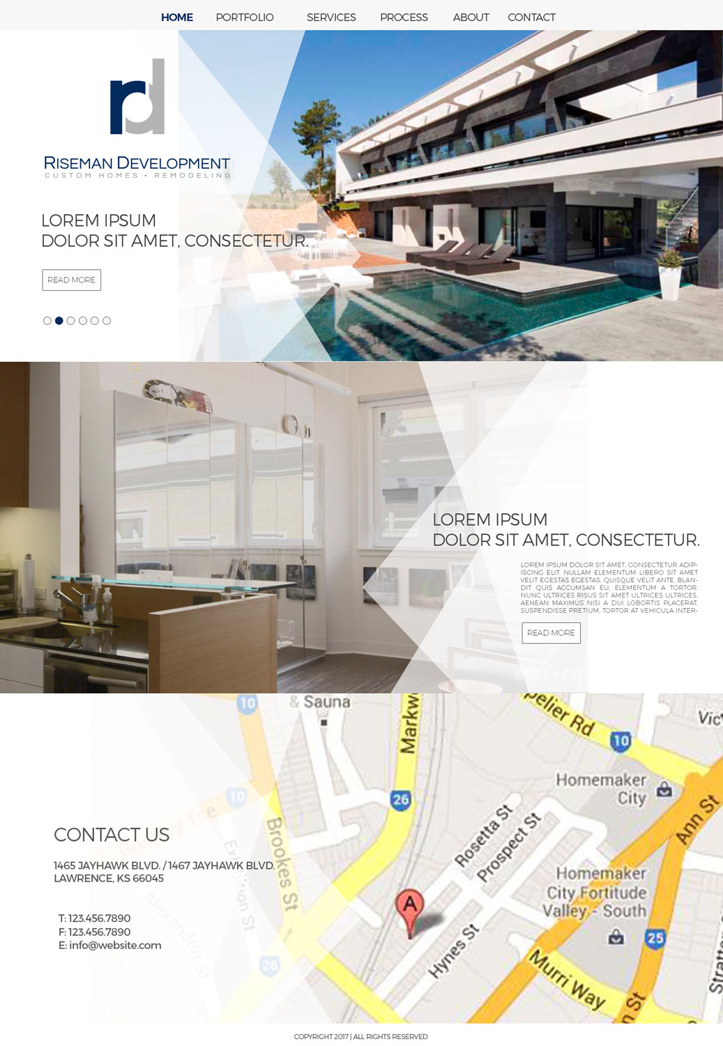 Modern, Professional, Builders Web Design for RISEMAN DEVELOPMENT ...