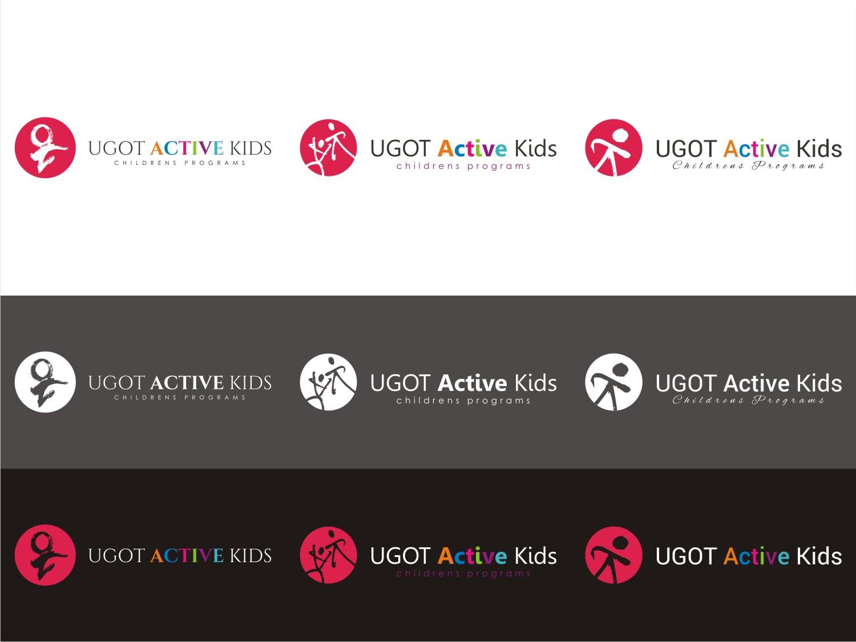 Elegant playful fitness logo design for ugot active kids by