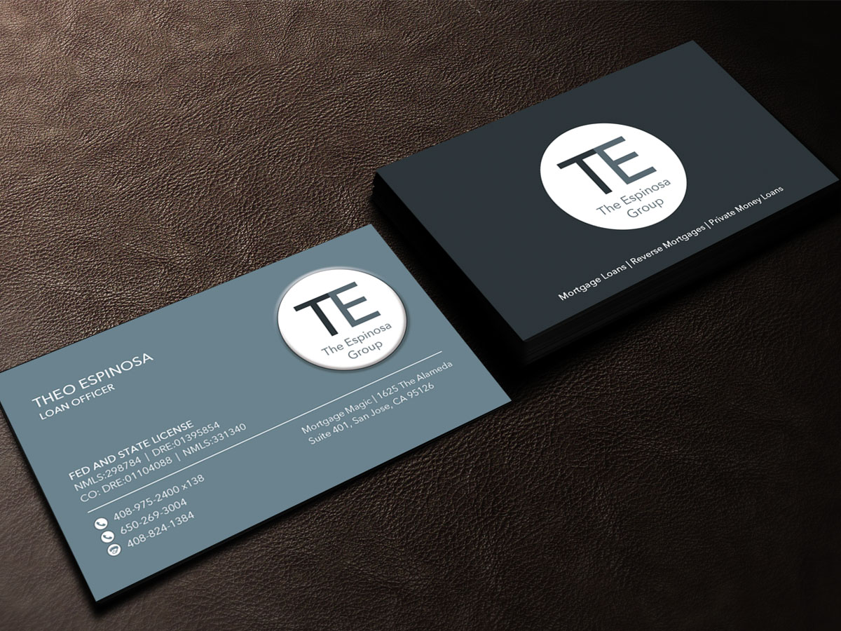 Modern elegant business card design for the espinosa group by business card design by sandaruwan for mortgage loan officer needs cleanmodern business card design magicingreecefo Choice Image