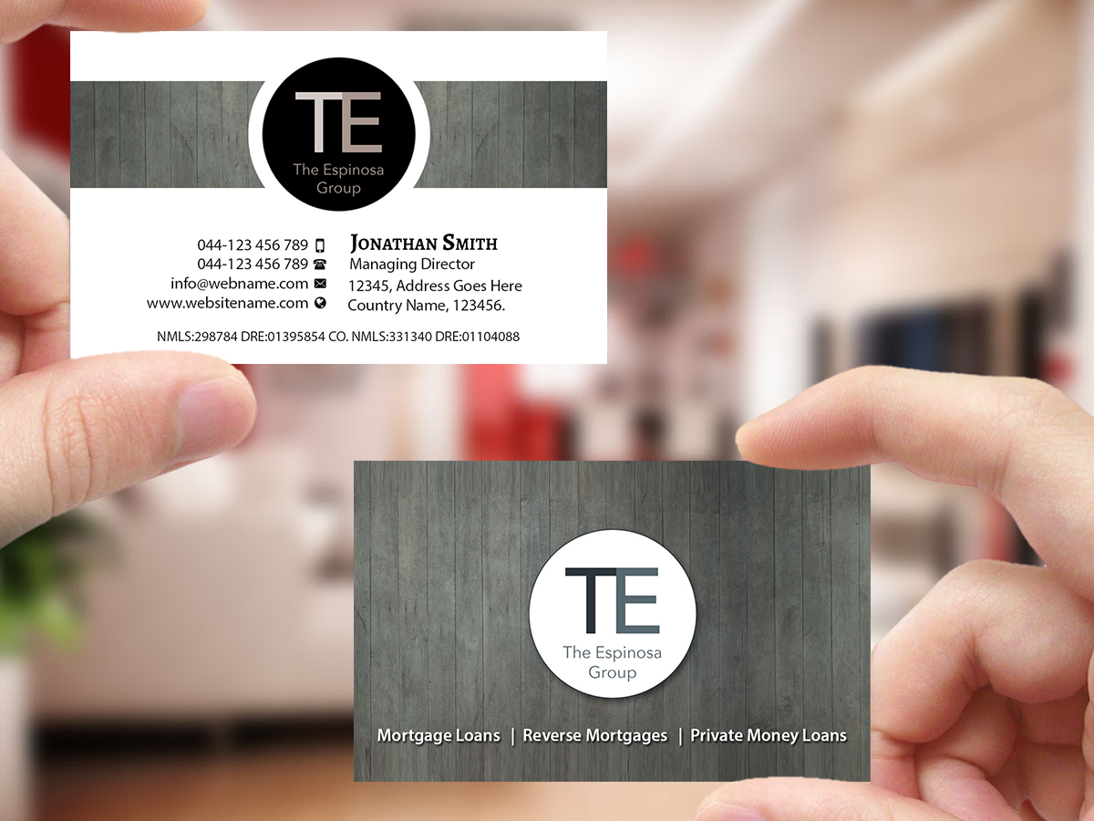 Modern, Elegant, Business Business Card Design for The Espinosa ...