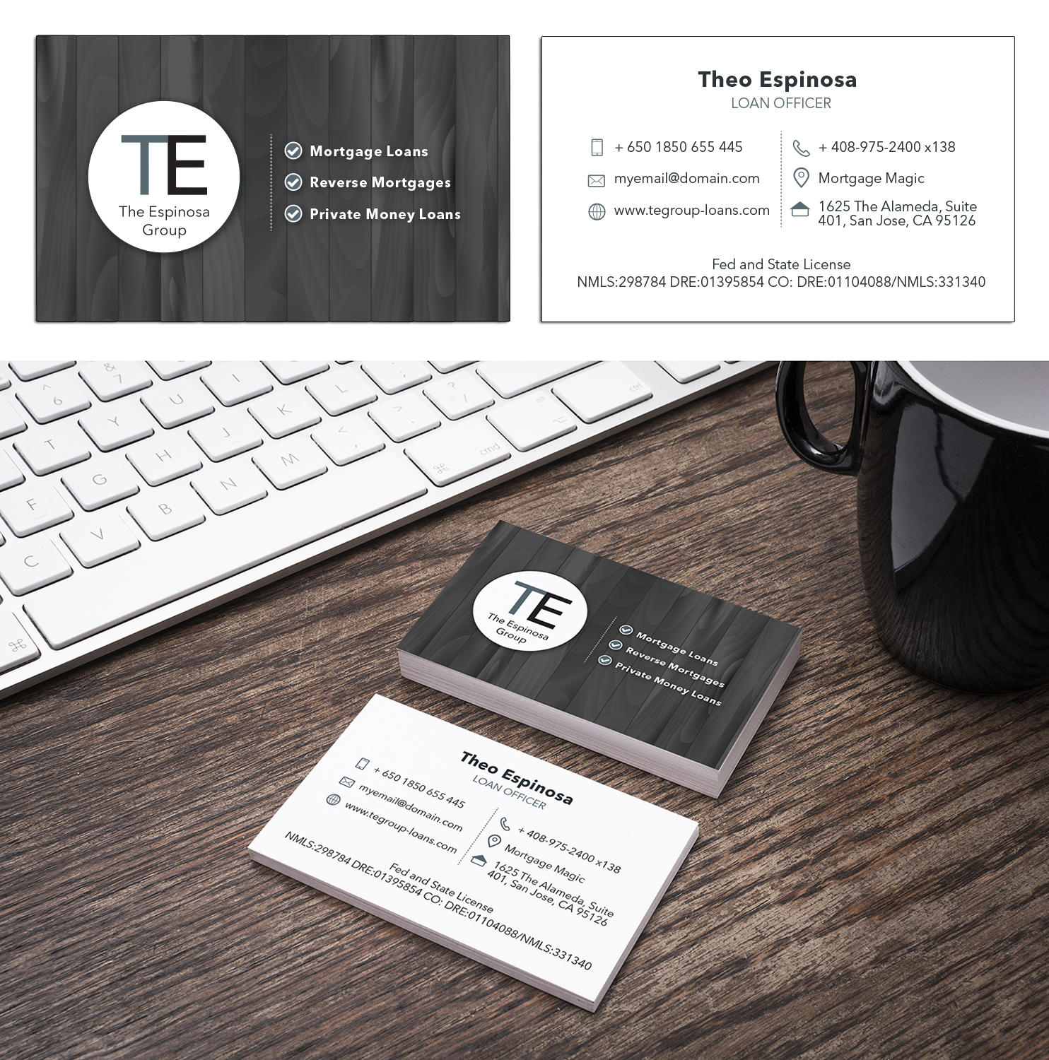 Modern, Elegant Business Card Design for The Espinosa Group by ...