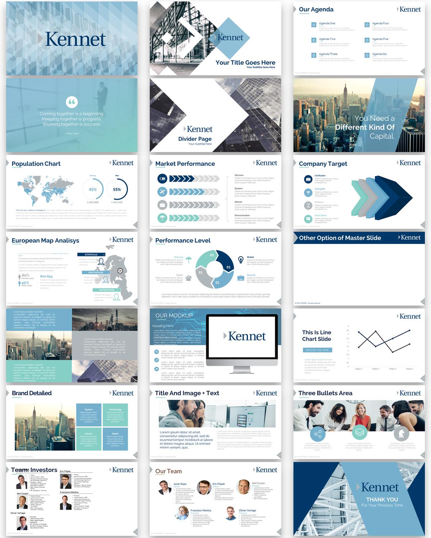 Design De Powerpoint Moderne Sérieux Investment Pour A