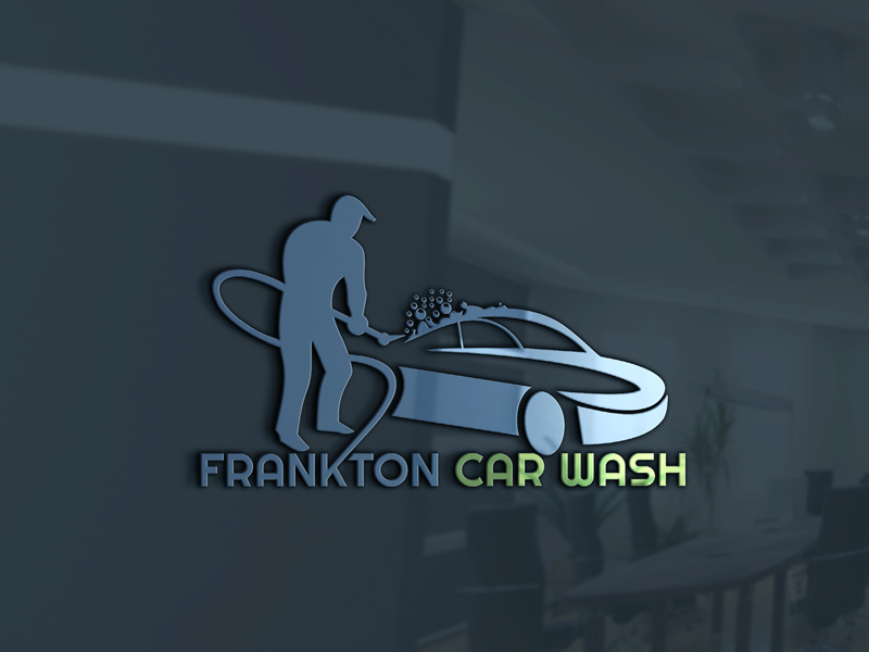Bold Serious Cleaning Service Logo Design For Frankton Car Wash By