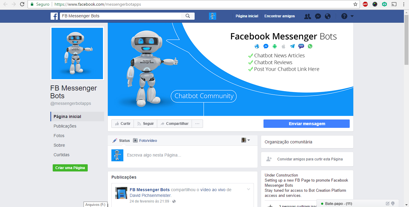 Facebook company profile - Facebook Design By Nightmist For Fb Community Page Regarding All Things Fb Messenger Chatbots Requires