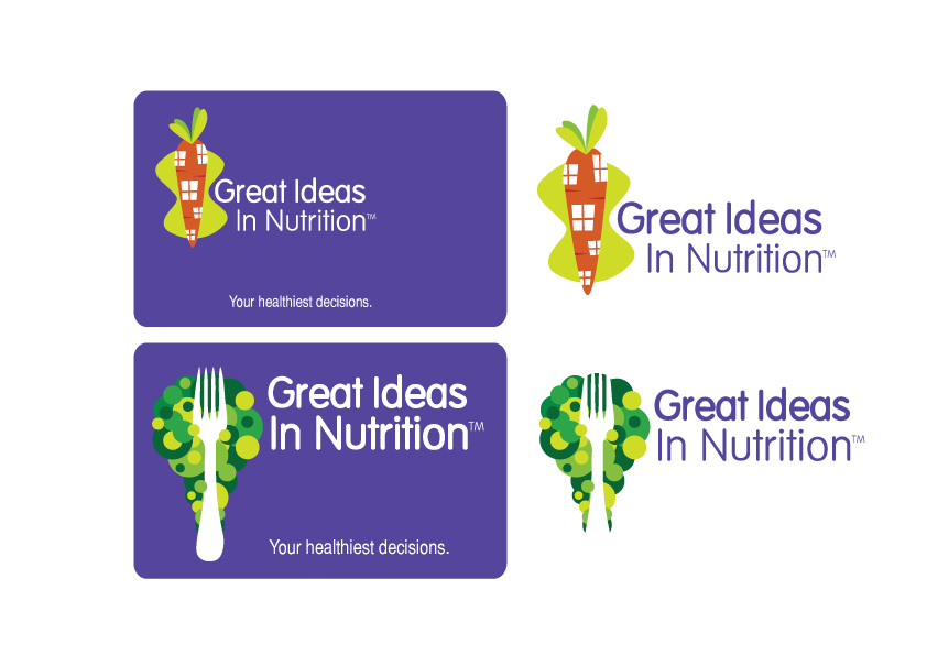 Modern, Upmarket Name Card Design For Great Ideas In Nutrition By