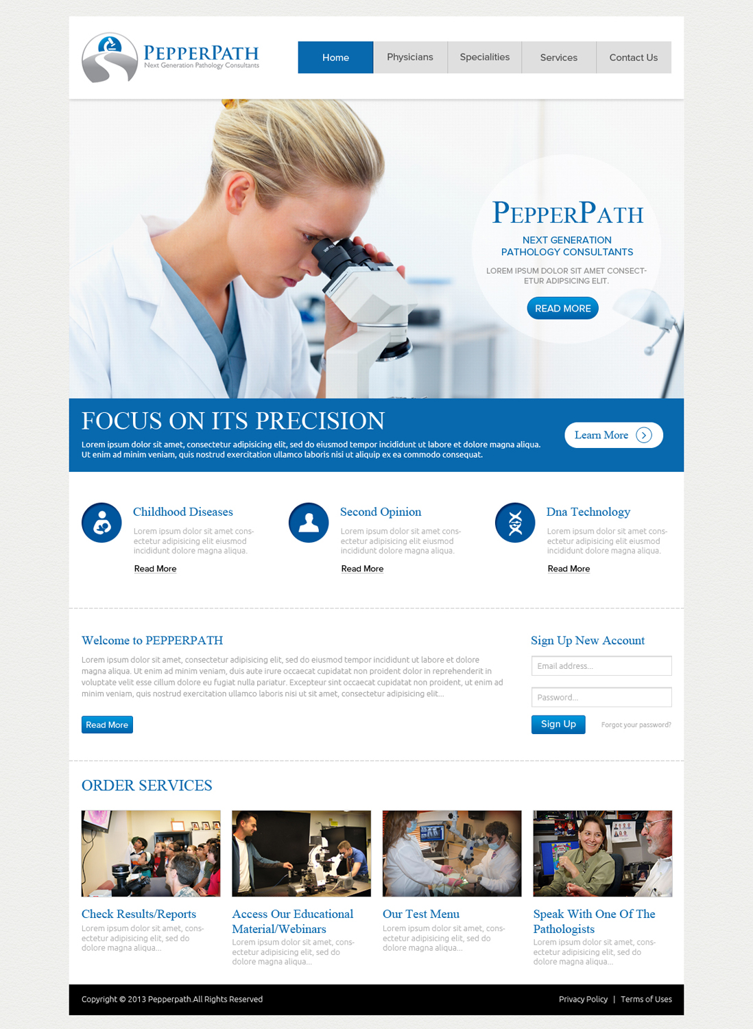 Web Design By OM For Design Website Home Page For Pathology Consulting  Company   Design #