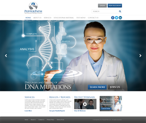 Web Design by TechWise - Design website home page for pathology consulti...
