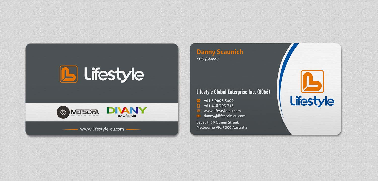 Serious Modern Furniture Business Card Design For