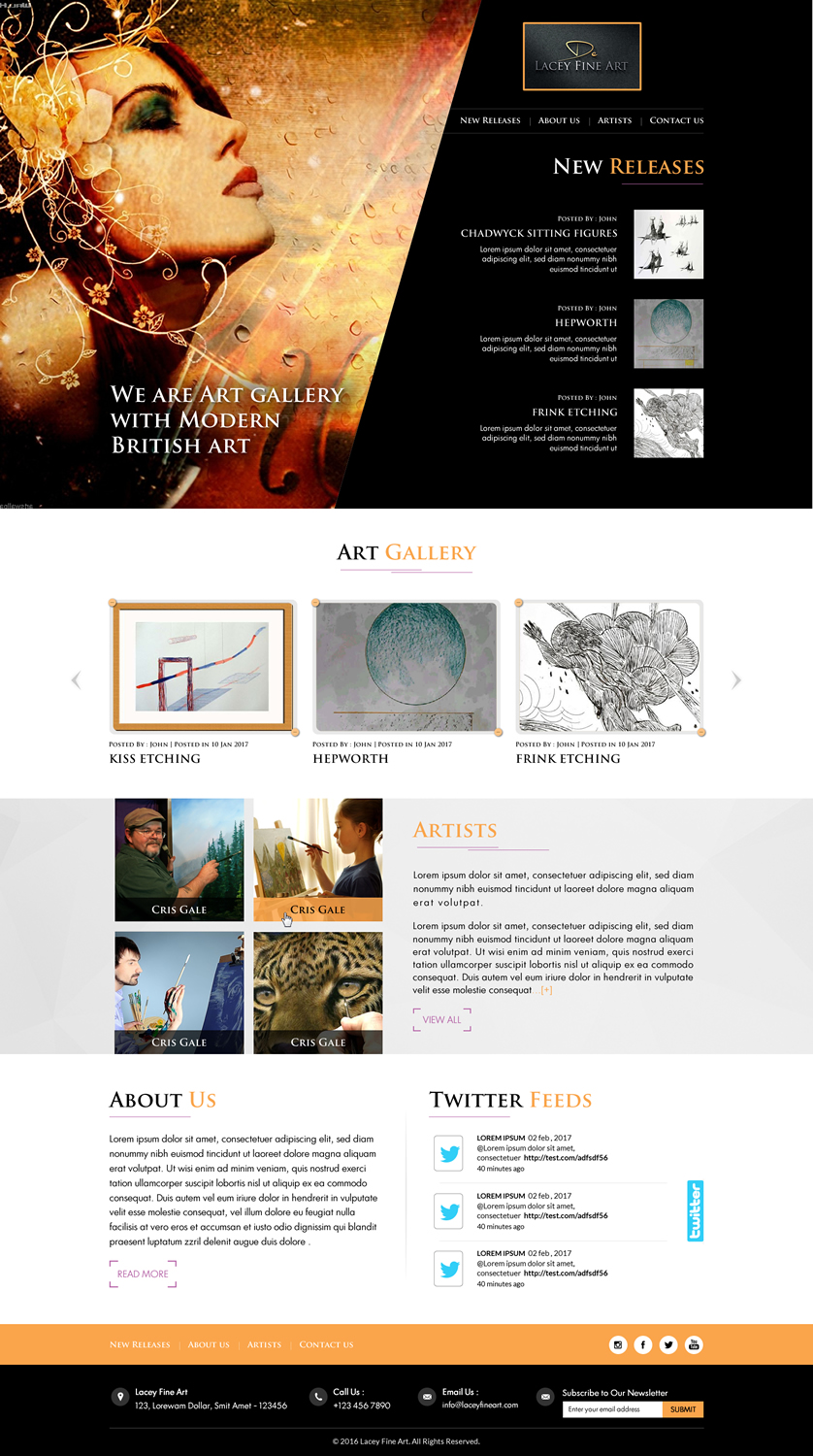 Elegant Serious Art Gallery Web Design For A Company By Sbss Design 13822676,Negative Space One Logo Design