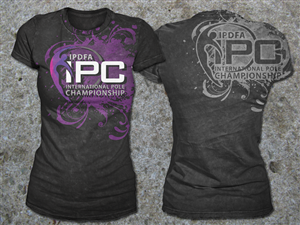 T-shirt Design by Black Planet - International Pole Championship T-Shirt