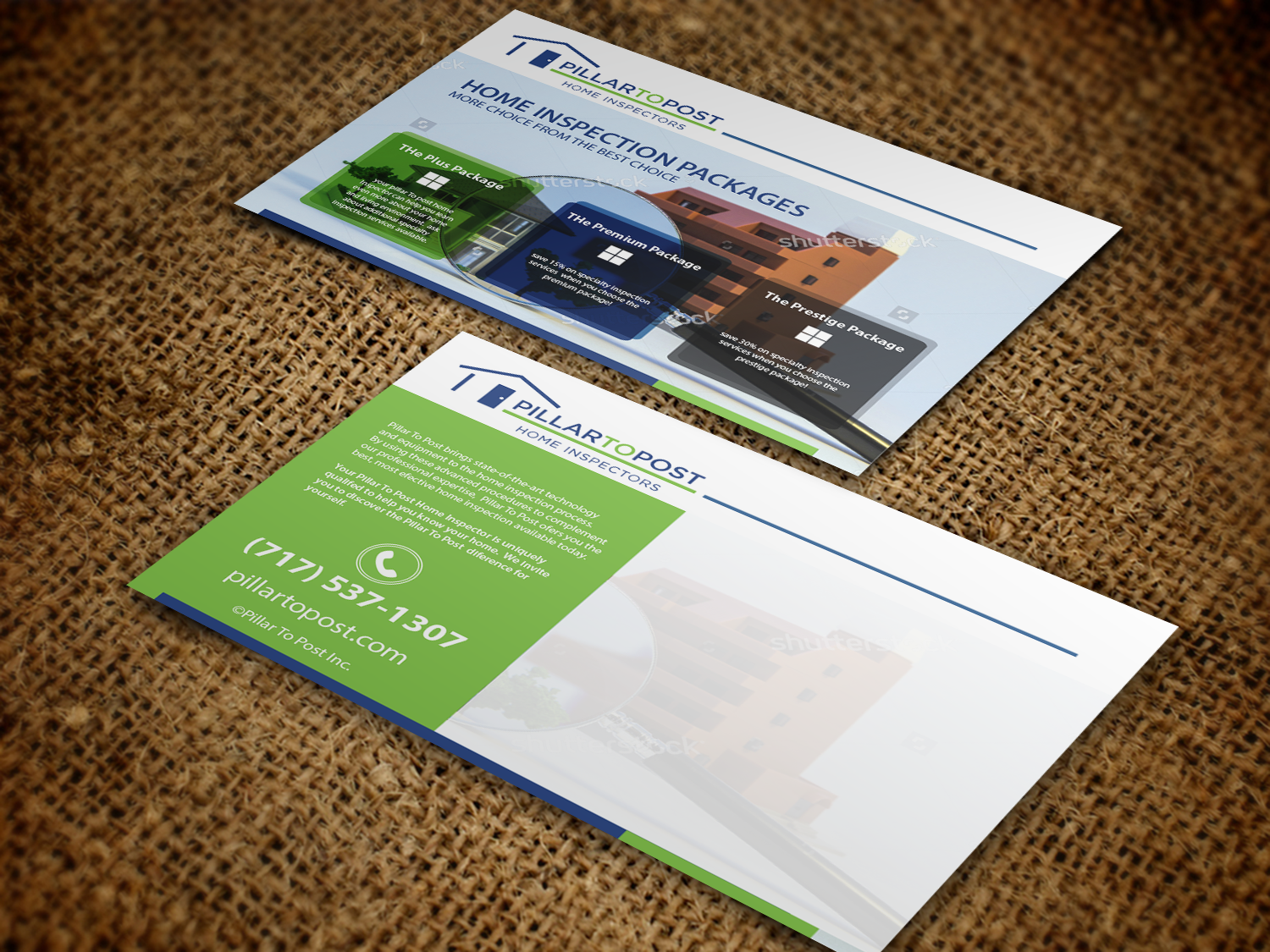 professional bold flyer design for pillar to post home inspection flyer design by nafizrahat for home inspection company needs a leave behind post card design