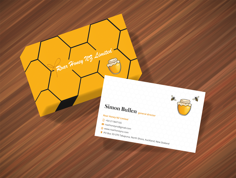 Modern, Professional, Wholesale Business Card Design for Roar Honey ...