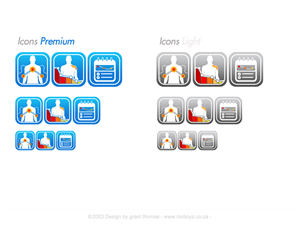 Icon Design by Grebo - iOS 7 App Icons for helping pain patients