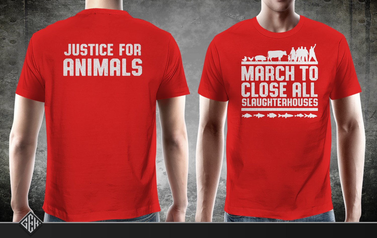 T shirt design job - T Shirt Design Job March To Close All Slaughterhouses T Shirt Design