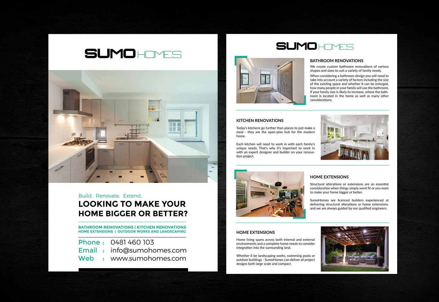 Modern, Playful, Residential Construction Flyer Design for Sumo ...