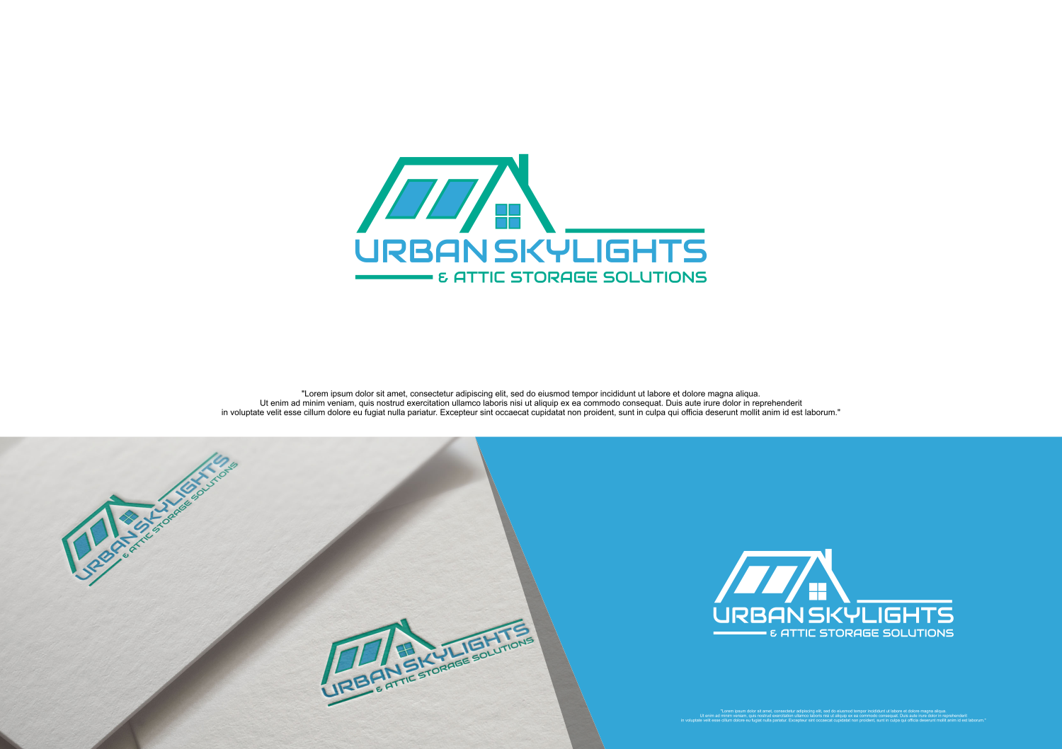 Serious, Professional, House Logo Design for Urban skylights & attic ...