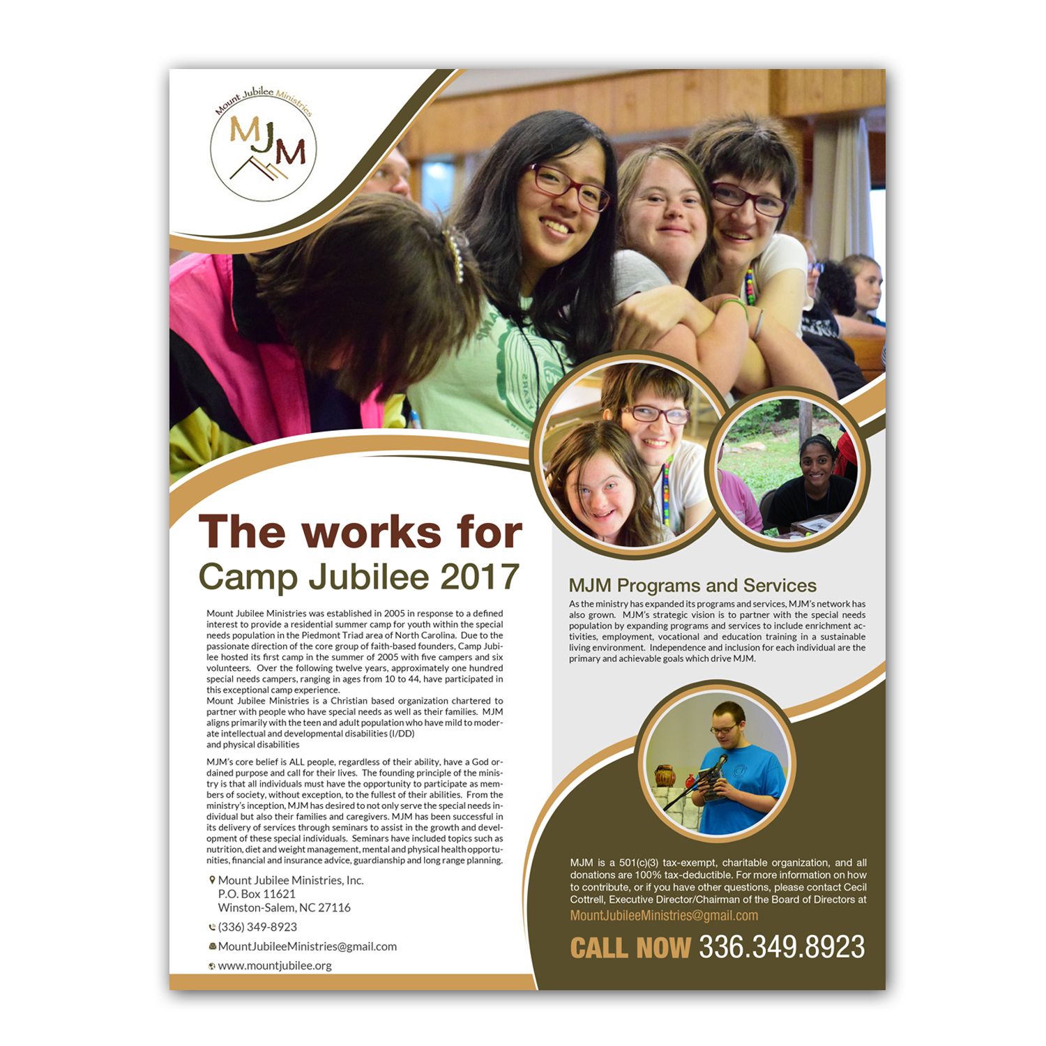 professional serious charity flyer design for a company by