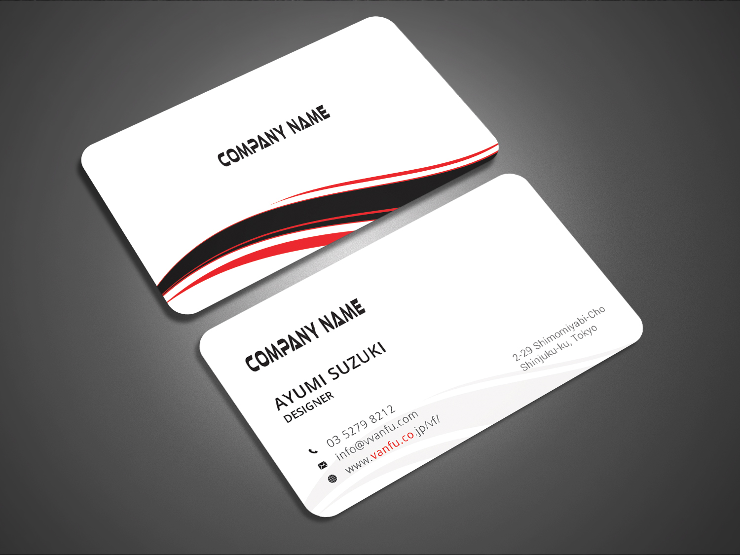 Elegant playful printing business card design for vanfu inc by business card design by graphic flame for vanfu inc design 13876565 reheart Image collections