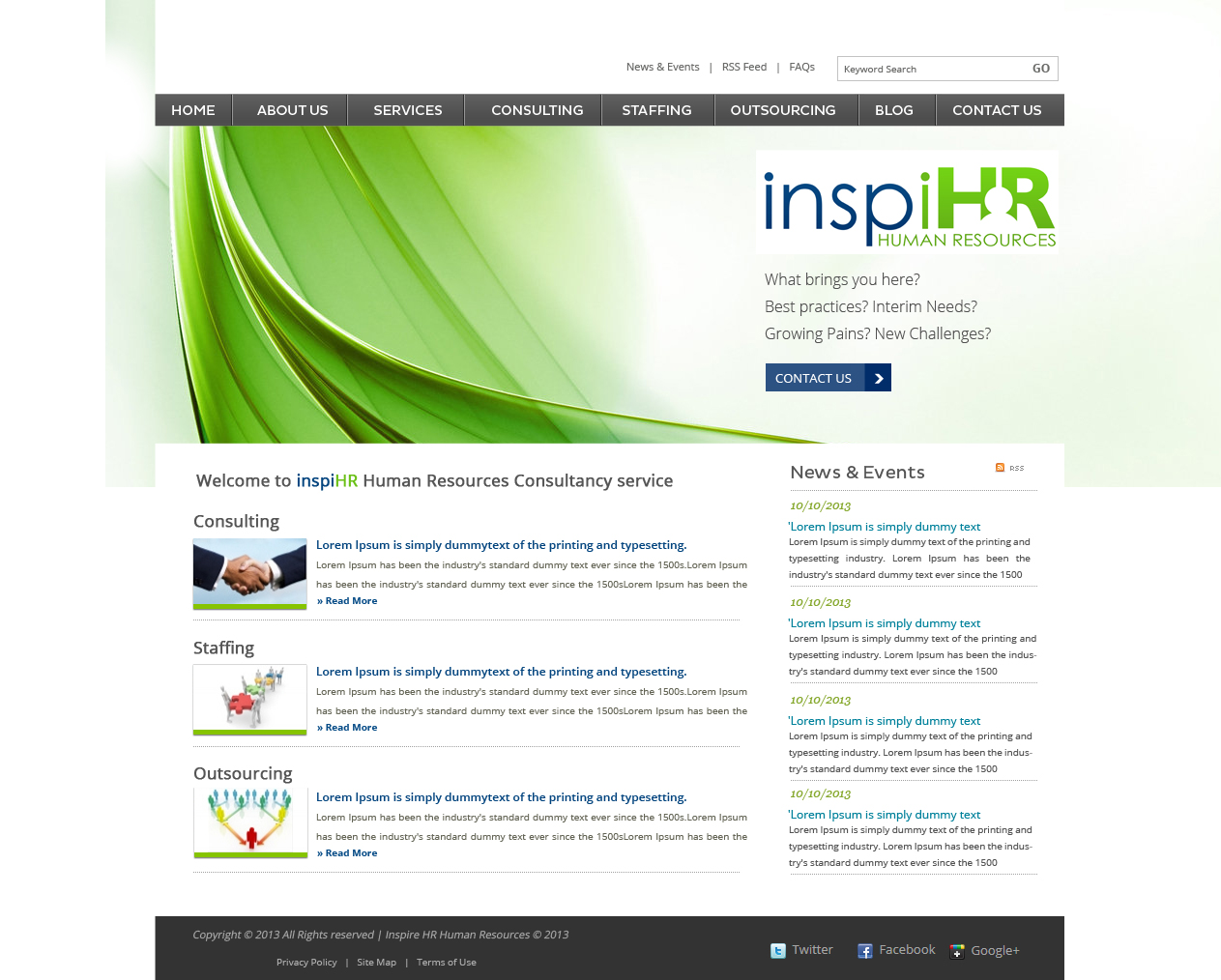 Modern professional consulting web design for a company for Web design consultant