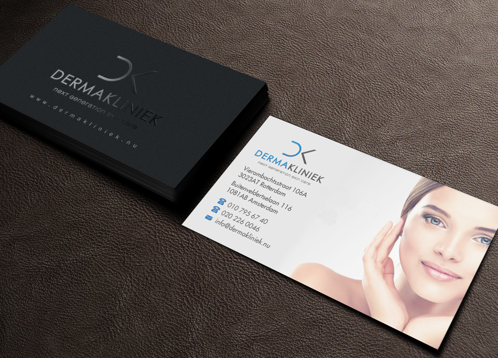 337 elegant business card designs business business card design business card design by brand aid for derma kliniek design 14024857 colourmoves