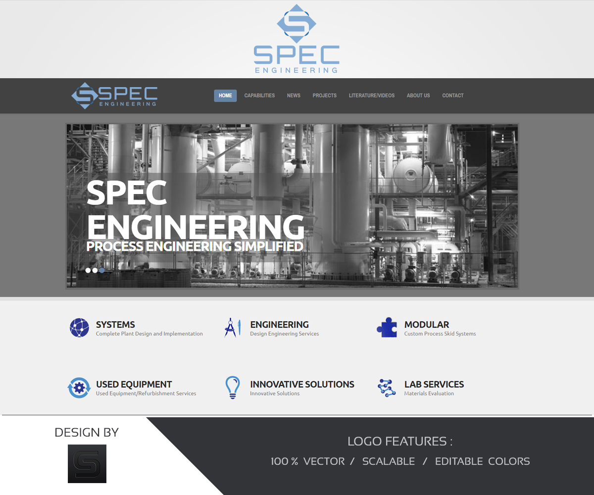 Bold Serious Mechanical Engineering Logo Design For Spec By Amazive Graphics Design 13903135