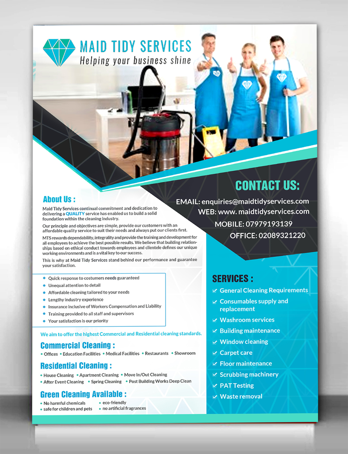 Serious, Professional, Cleaning Service Flyer Design for a ...
