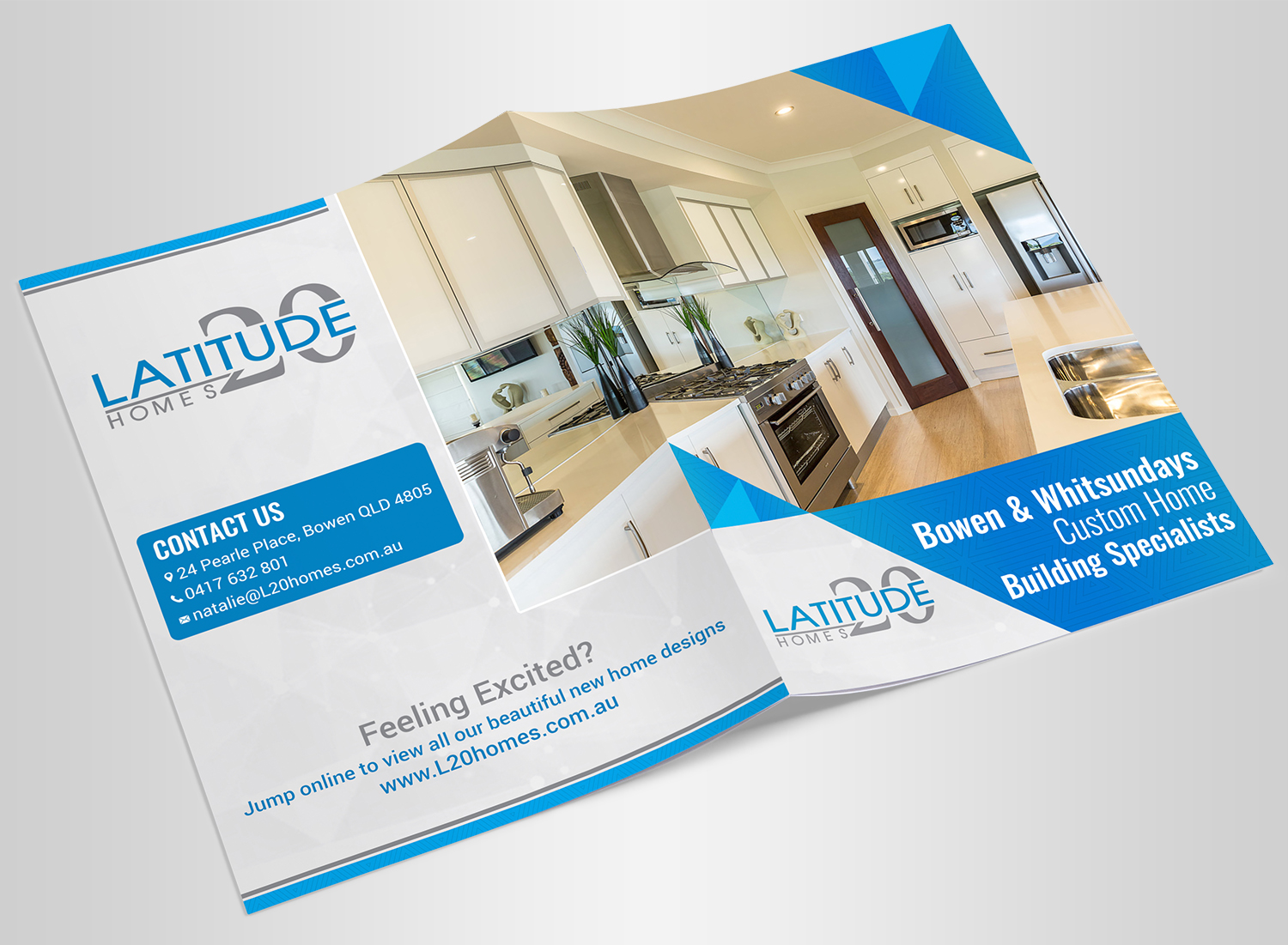 Modern, Personable, Home Builder Brochure Design for Latitude 20 ...