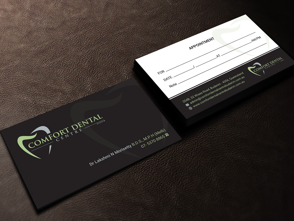 170 modern business card designs dental clinic business card