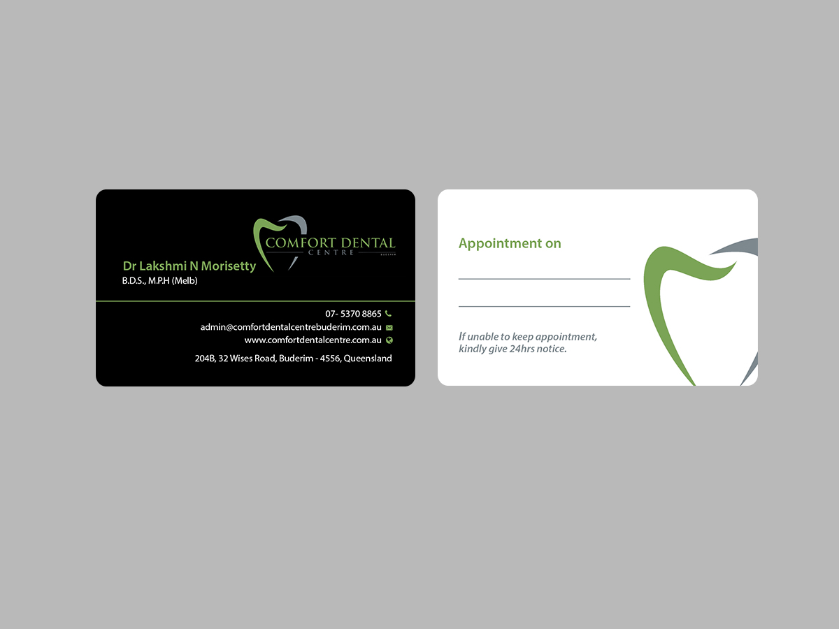 Modern professional dental clinic business card design for a business card design by creations box 2015 for this project design 13932225 reheart Choice Image