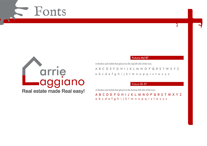 Bold, Playful, Real Estate Agent Logo Design for Carrie