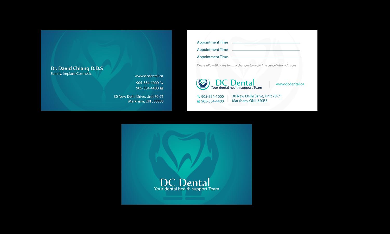 285 Modern Business Card Designs | Dental Business Card Design ...