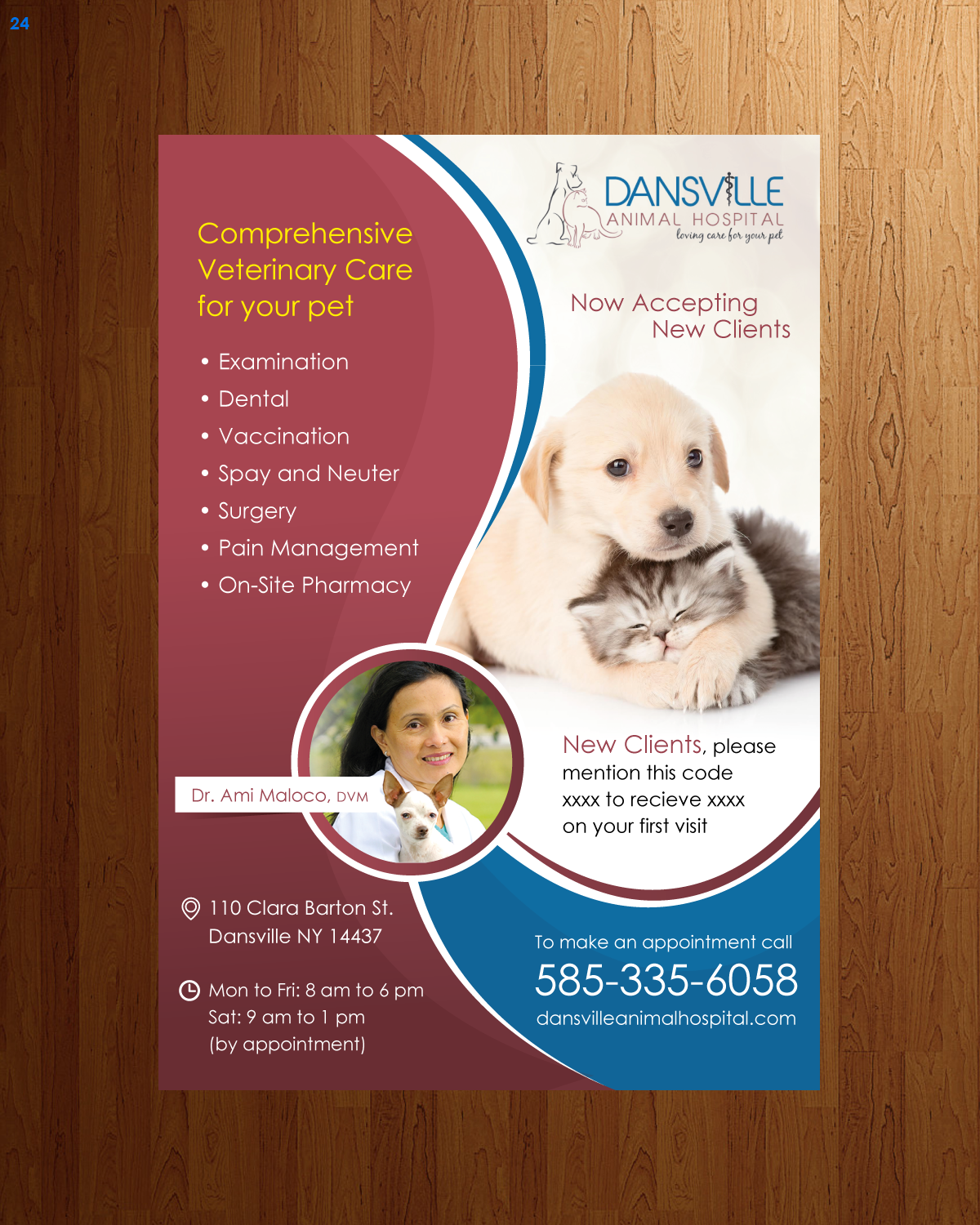 Elegant Playful Health Poster Design For A Company By: Elegant, Playful, Veterinary Newspaper Ad Design For A