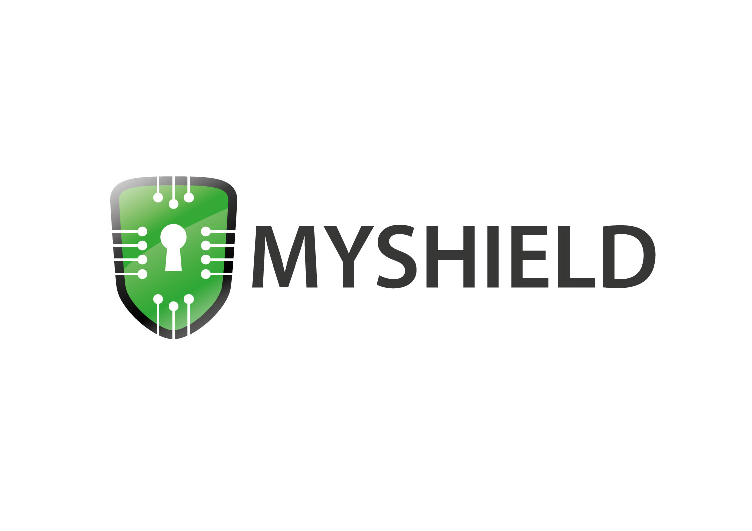 Serious Modern Android Logo Design For Myshield Symbol Text