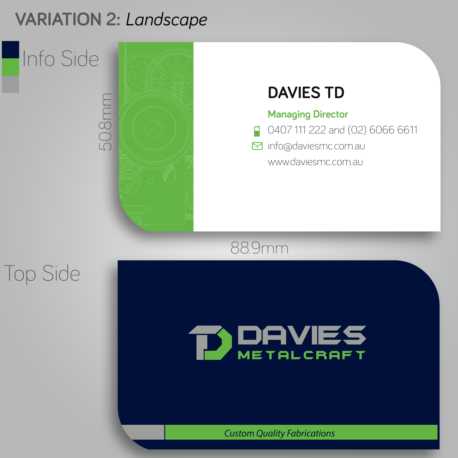 Masculine, Upmarket, Metal Fabrication Business Card Design for ...