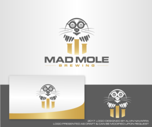 Playful Modern Logo Design Job Logo Brief For Mad Mole Brewing Llc