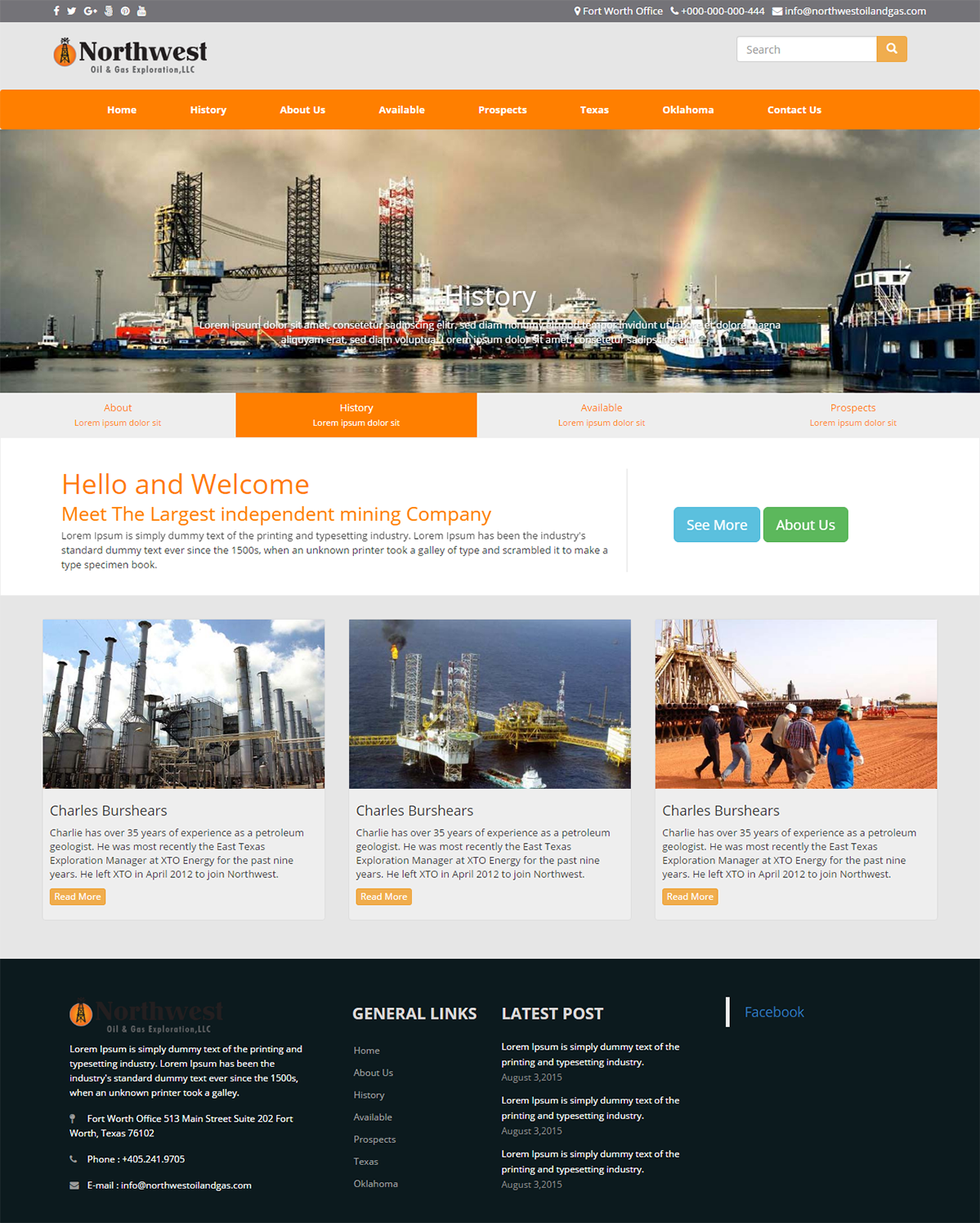 Modern, Bold, Oil And Gas Web Design for Northwest Oil & Gas ...