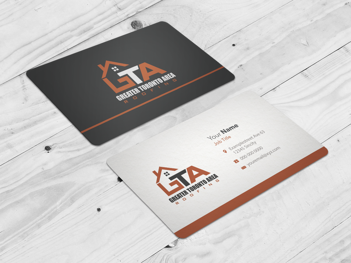 Modern, Professional, Roofing Business Card Design for GTA Roofing ...