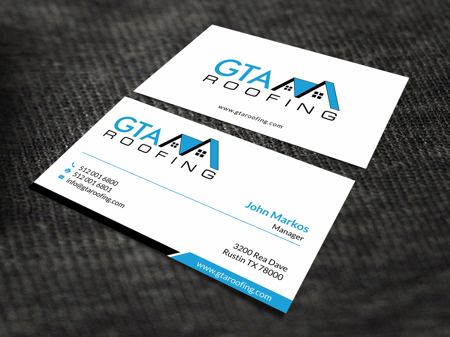 Modern professional roofing business card design for gta roofing business card design by skydesign for gta roofing design 13991021 reheart Images