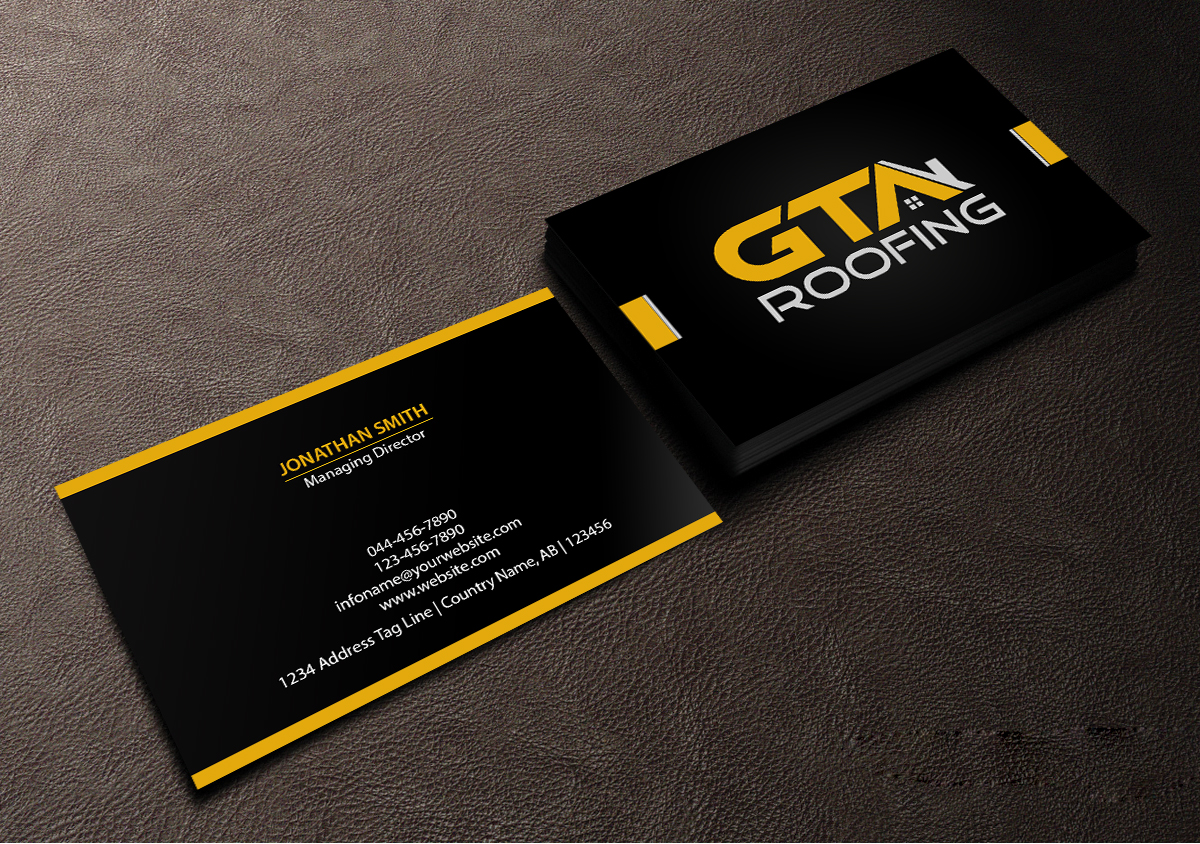 Modern, Professional Business Card Design for GTA Roofing by ...